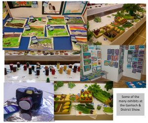 Some of the many exhibits at the Gairloch & District Show