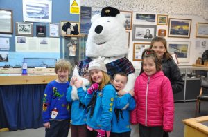 Beavers and Cubs with Pavel the Polar Bear at the RACP Arctic Elf Extravaganza